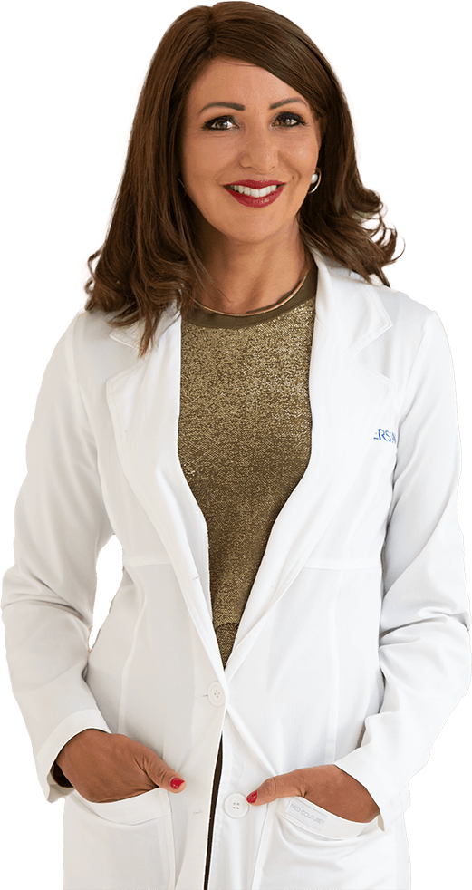 clare in white coat
